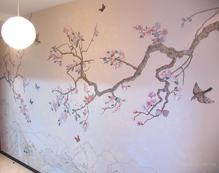 Рисунки на стенах в квартире своими руками фото