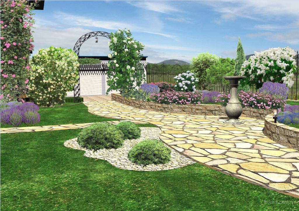 Ландшафтный дизайн визуализация
