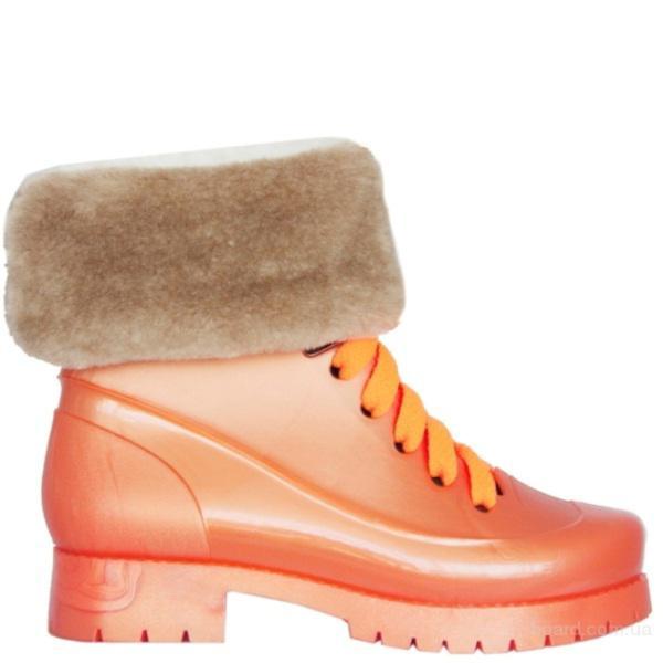Комбинированные резиновые ботинки!