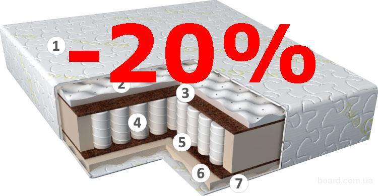 Матрас Take&Go Rollspring Coco в вакуумной упаковке.