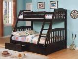 Кровать двухъярусная из дерева Тройка