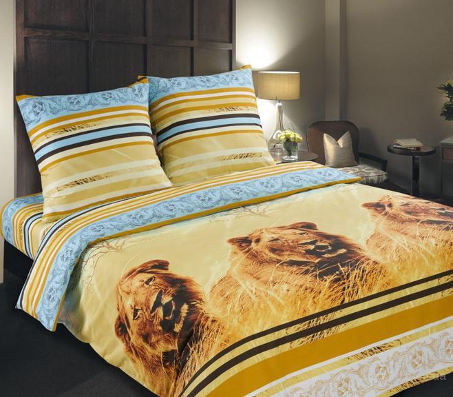 """Полуторный комплект постельного белья из поплина """"Кинг"""" 100% хлопок"""