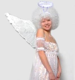 Белоснежный набор для Ангела: парик Ангела,  крылья  и нимб
