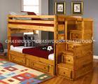 Оригинальные двухъярусные кровати из массива дерева