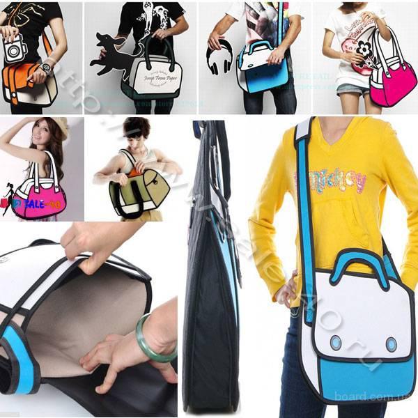 купить Mультяшная настоящая креативная сумка. Выделяйся из толпы!