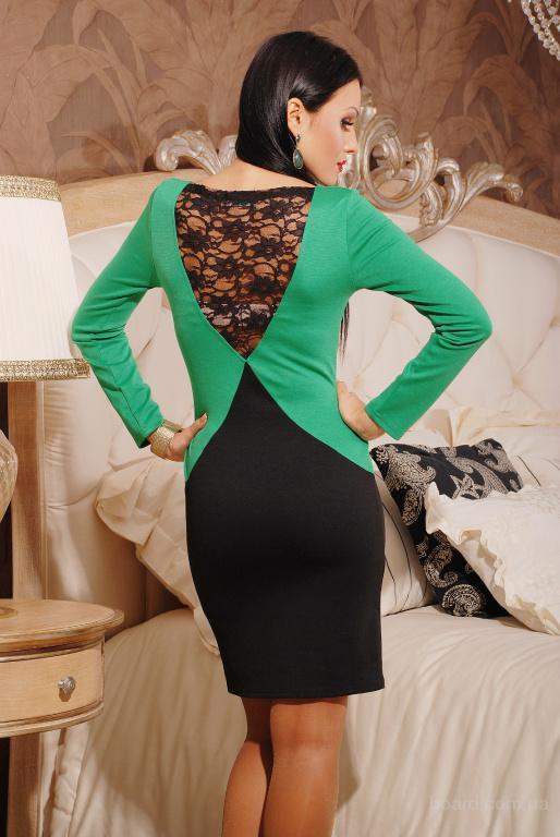 Женственное платье с ажурной вставкой в интернет-магазине женской одежды Luxlingerie