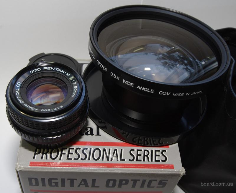 Digital Optics Professional Series  0.5X Wide Angle 72mm Treadeed Lens. Широкоугольный, конвертер 0,5х