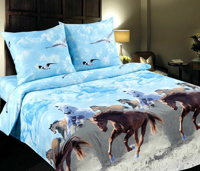 Еврокомплект постельного белья из поплина 100% хлопок
