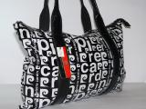 Чёрно-белая сумка Pierre Cardin на плечо