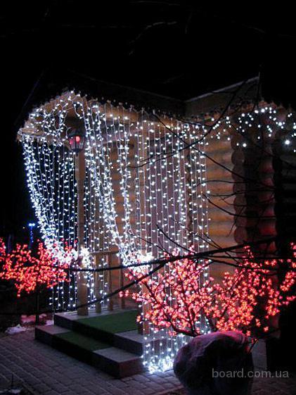 Гирлянда светодиодная,новогодняя иллюминация,украшение дома к новому году,подсветка деревьев,оформление фасада