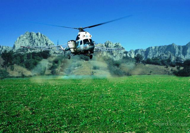 Услуги по подкормке озимой пшеницы и рапса с воздуха самолетом и вертолетом