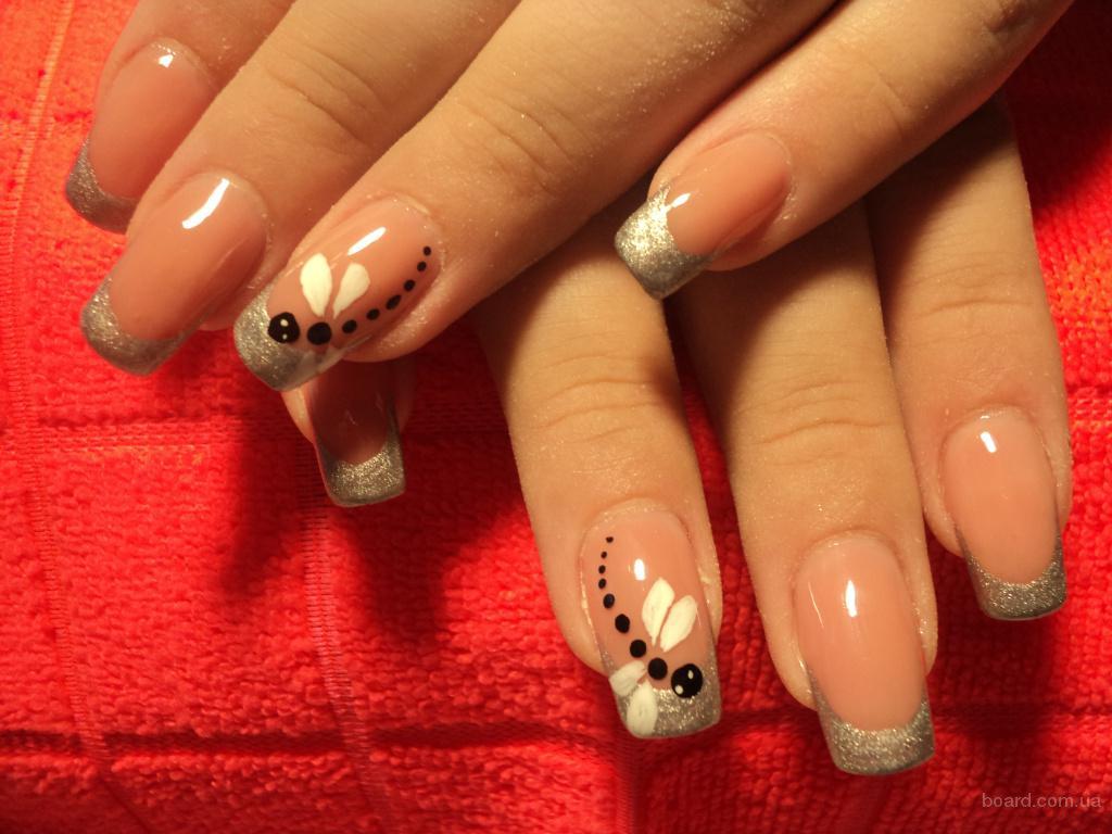 Декор на ногтях шеллаком