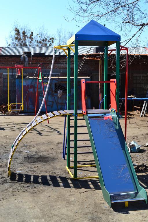 Игровой уличный комплекс «Башенка» с горкой
