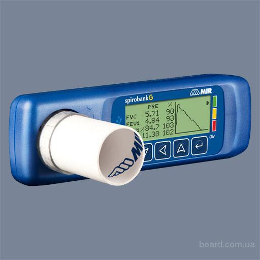 Spirobank G многофункциональный спирометр с графическим  дисплеем. Mir Италия.