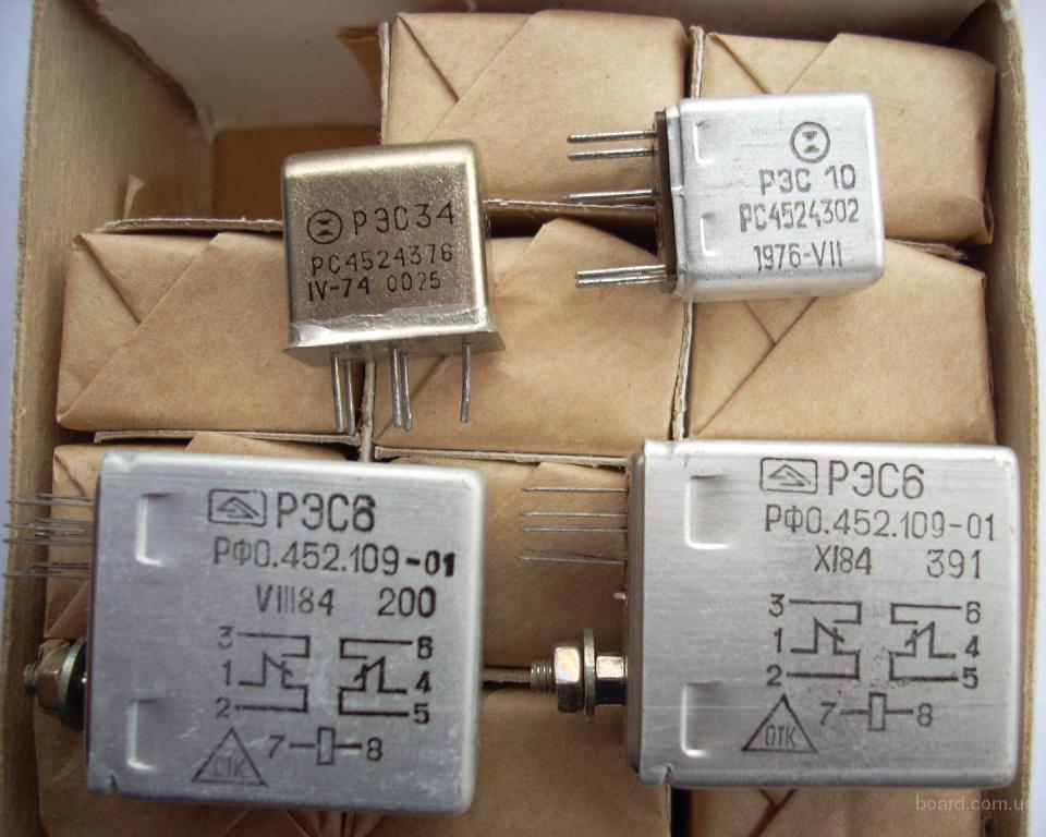 Новые реле РЭС-6, РЭС-10, РЭС-34