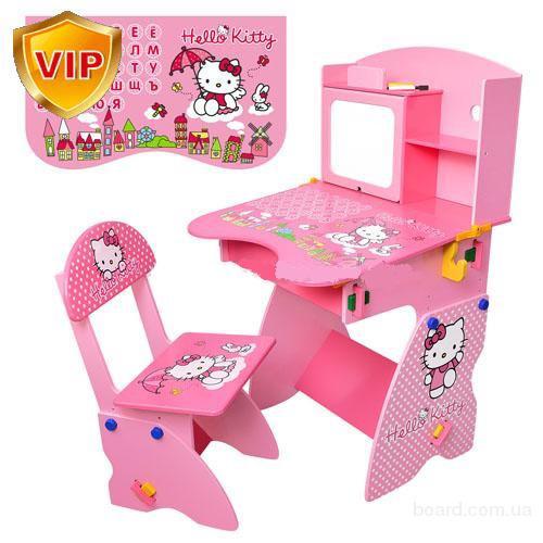 Детская парта М 0324 и 0325  Bambi (Metr+) Hello Kitty и Маша и Медведь