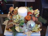 Новогоднее оформление ресторана, новогодняя композиция, елка Новогоднее оформление офиса Киев, праздничная иллюминация