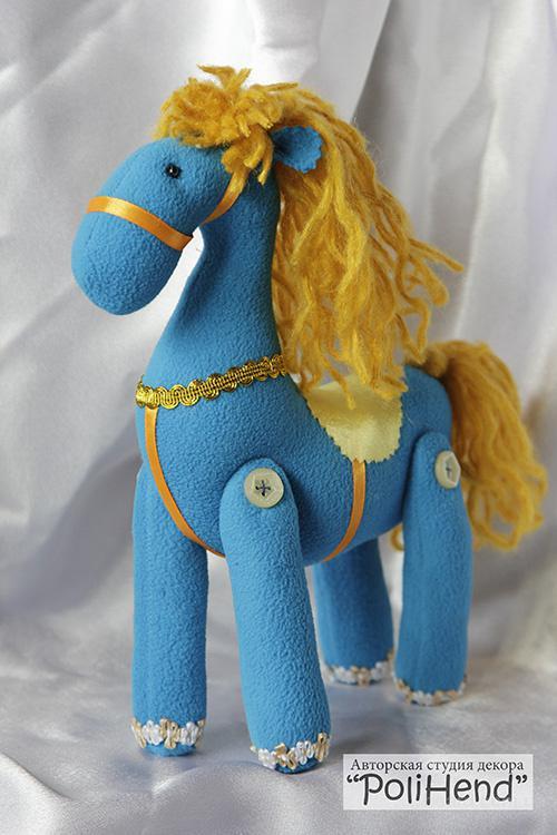 Продам текстильную лошадку ручной работы
