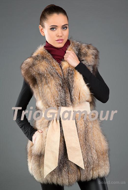 Пошив меховых жилетов из меха чернобурки, рыжей лисы, норки, шиншиллы