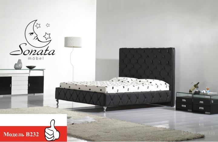 Кровать, двуспальная кровать, кожаная кровать, мебель для спальни, тумба, комод, матрас - выставочные образцы от 19999 грн