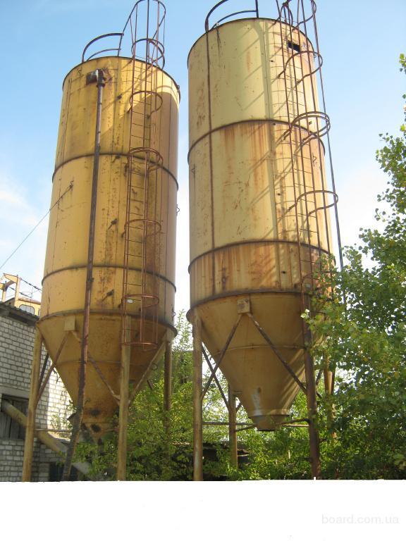 Бункера цементные (силоса) 15, 45, 90 м.куб.