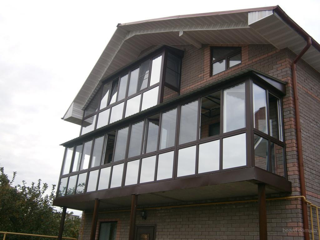 Фото: балконы под ключ. окна рехау, саламандер от производит.