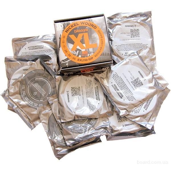 Струны D'Addario EXL110-10P 10-46 (10шт. в коробке) вся Украина