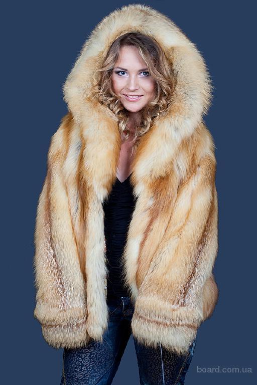 Полушубок из меха золотой исландской лисы Golden islands fox Италия.