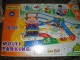 Детский трек гараж Wader 53070. 9, 1 метра, 3 уровня, и 3 авто
