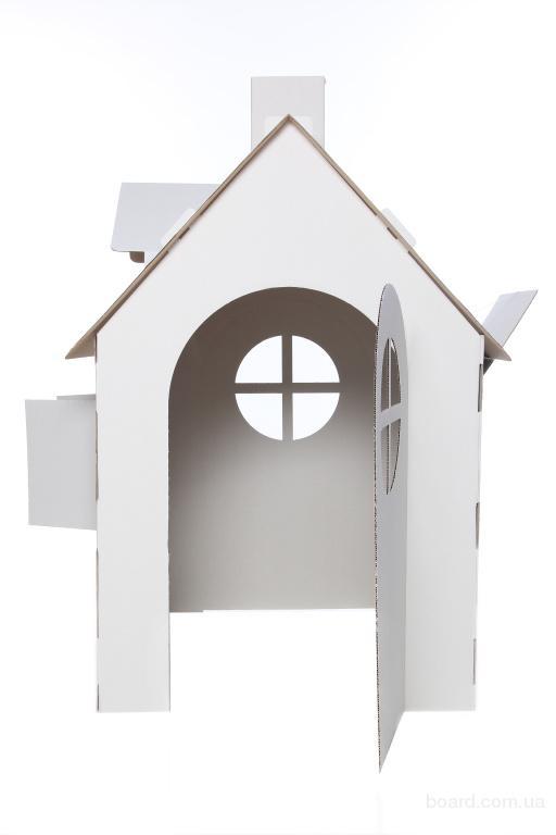 Детский домик для кукол из картона 196