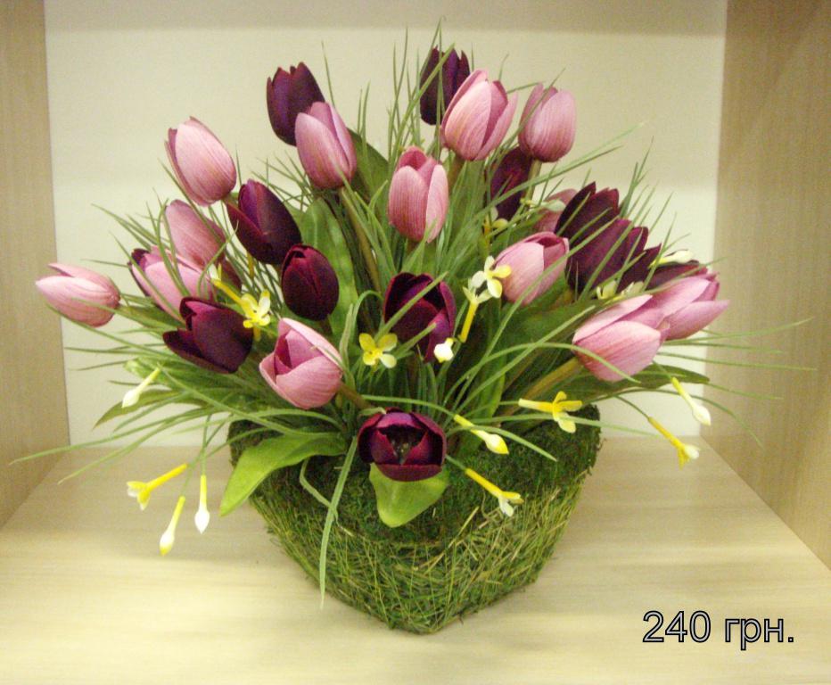 Искусственные цветы на кухню фото