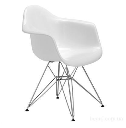Кресла Тауэр белое для бистро, фастфуда,