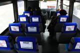 реклама в общественном транспорте ( на подголовниках ) в г. Мелитополь