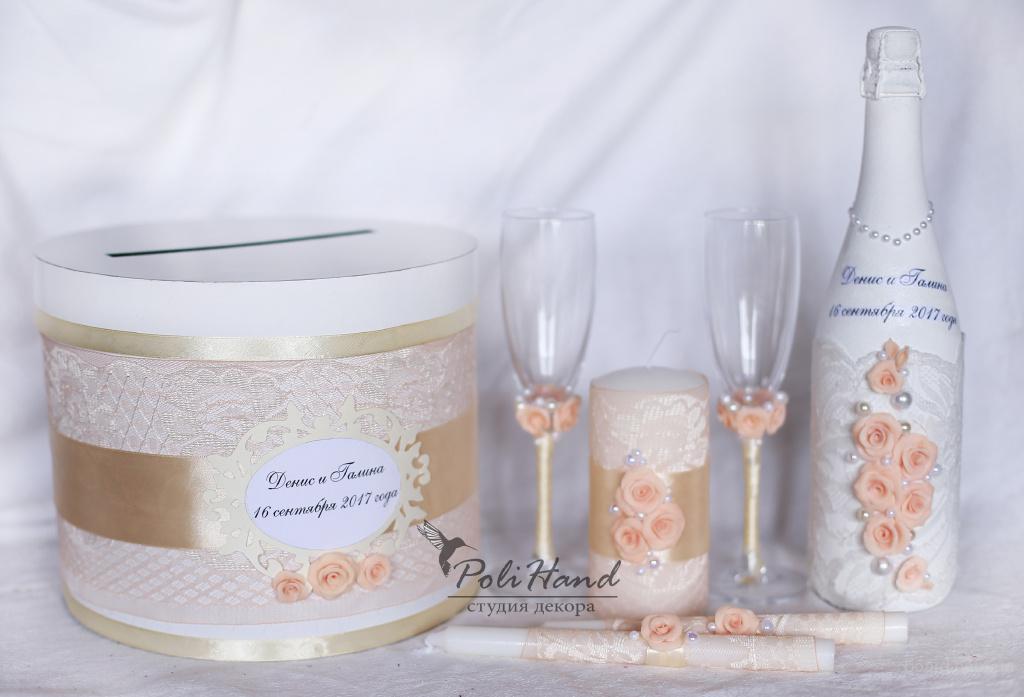 Свадебные бокалы и шампанское своими руками фото