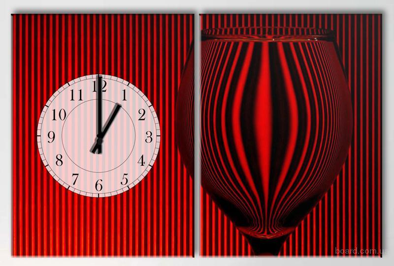 Настенные часы-картины на эко хлопковом холсте