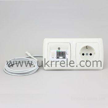 Терморегулятор для теплого пола с розеткой РТ-16/2Р1 (16А/3кВт)