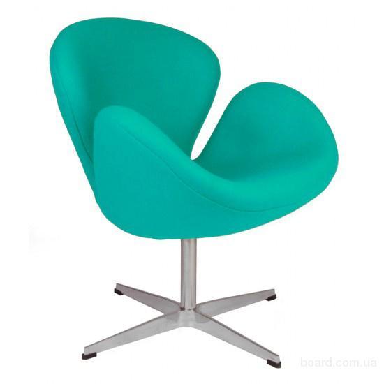 Кресла Св (Swan) зеленая ткань для кафе,