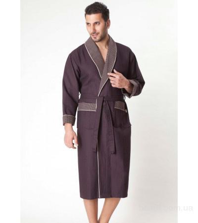 Мужской махровый вафельный домашний халат в интернет магазине «SleepTex»