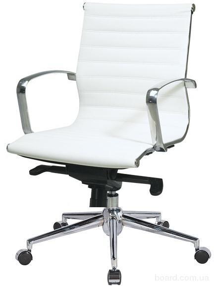 Кресло офисное АЛАБАМА СРЕДНЕЕ белое