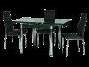 Стол стеклянный раскладной GD-082