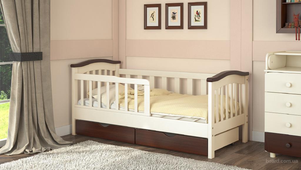 Деревянная детская кроватка от 3 лет Конфетти от производителя 160*70см