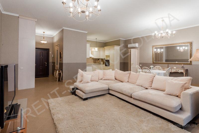 Долгосрочная аренда трехкомнатной квартиры в элитном жилом комплексе Арк Палас, вид на море.