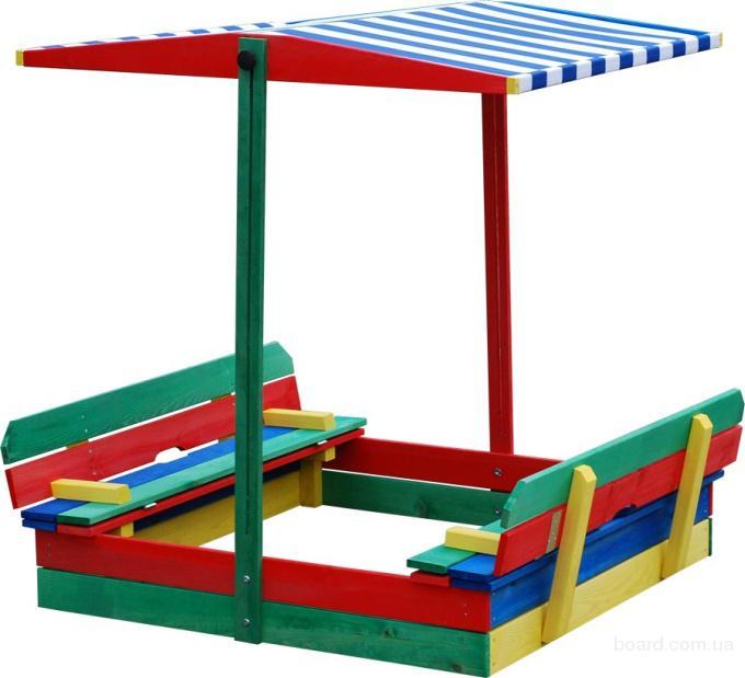 Детская песочница из дерева,песочница для детей,с крышкой