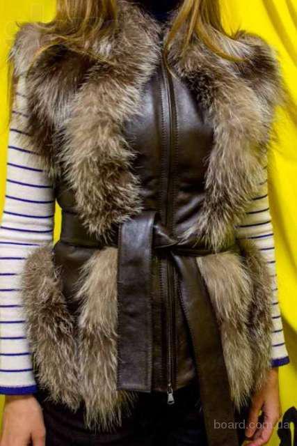 Как из старой кожаной куртки сделать жилетку с мехом