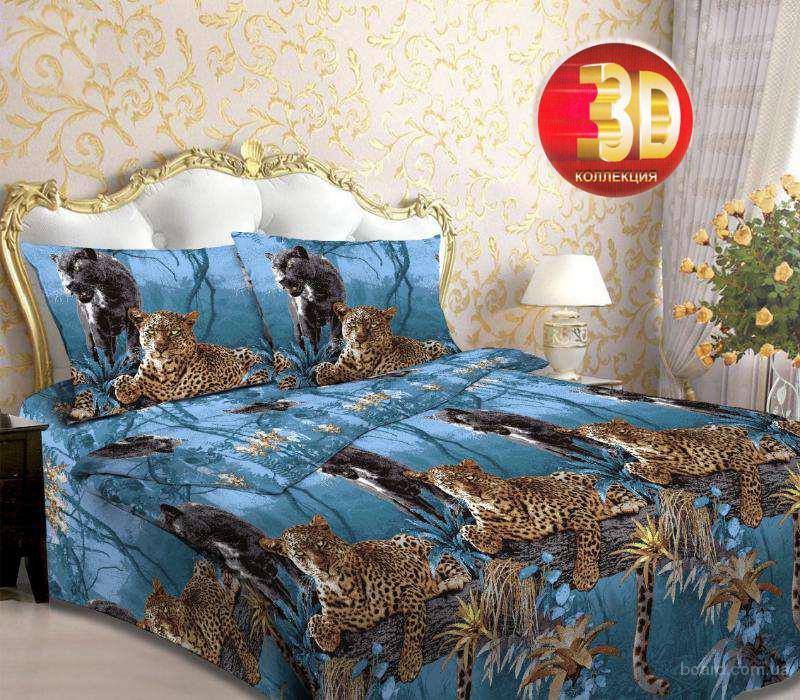 Двуспальное 3д постельное бельё из бязи хлопок