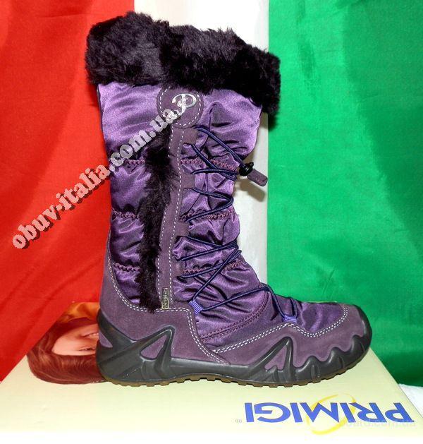 Сапоги для девочек зимние кожаные Primigi Gore-Tex оригинал п-о Италия