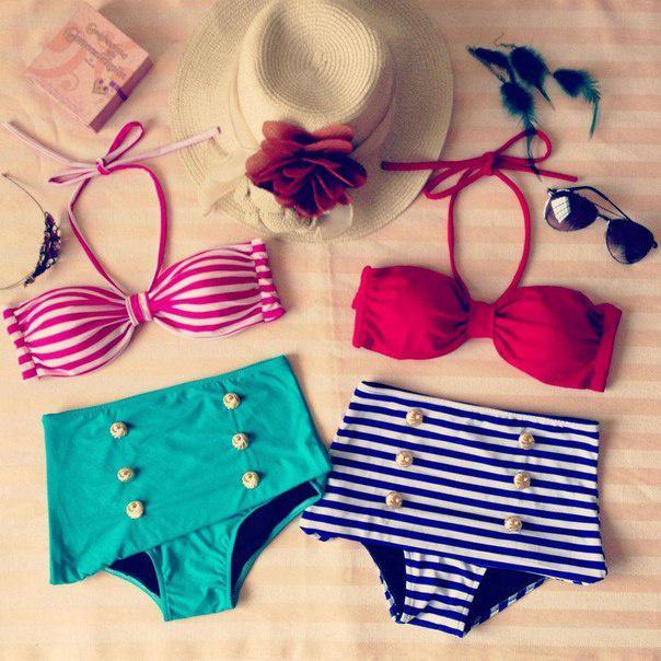 Ретро купальник с завышенной талией в интернет магазине Moda Style
