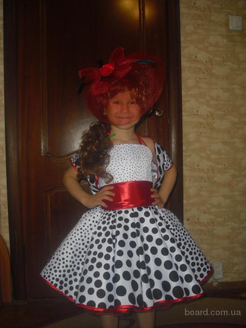 Детское платье Божья коровка, кукла, ретро, цветочек, весна, прокат