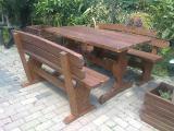 Мебель для сада, беседки деревянные, столы, стулья, лавки из дерева