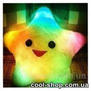 Светящая LED подушка-звезда, светящаяся подушка Звезда UFT Star Light, оригинальный подарок сотруднице на 8 марта.